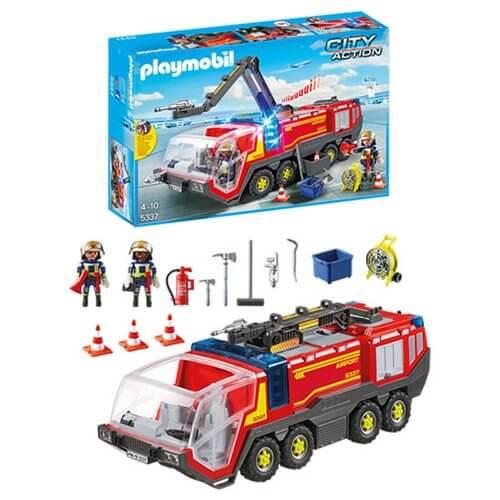 Pompiers et véhicule aéroportuaire - Playmobil® - City Action - 5337 Playmobil