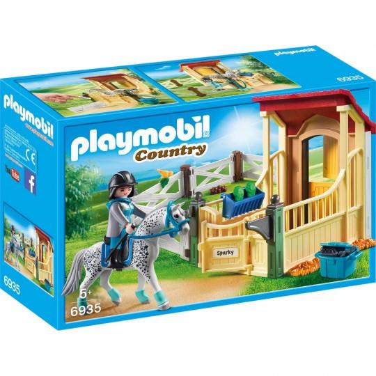 Playmobil 6935 Box avec cheval Appaloosa