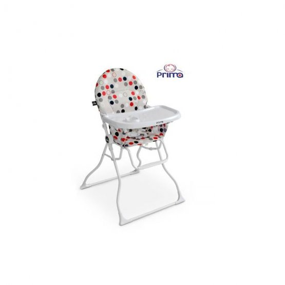 Chaise haute magic  PRIMA GRIS ROUGE