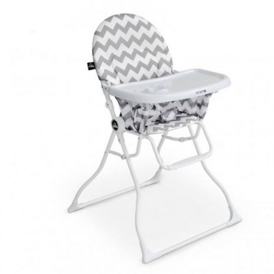 Chaise haute magic PRIMA GRIS  ZIGZAG