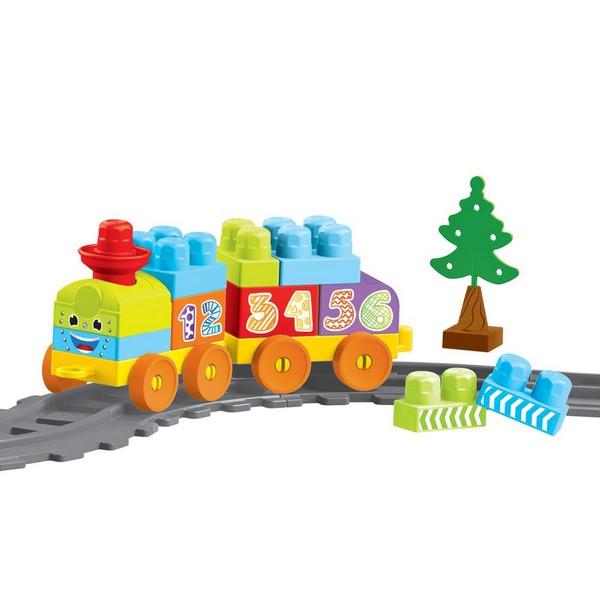 Jeu de construction Dolu – Train, 36 pièces
