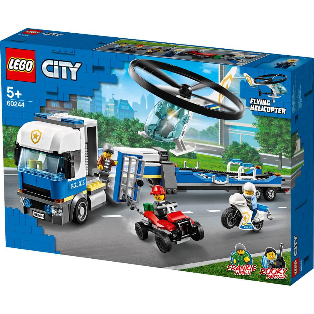 Le transport de l'hélicoptère de la police