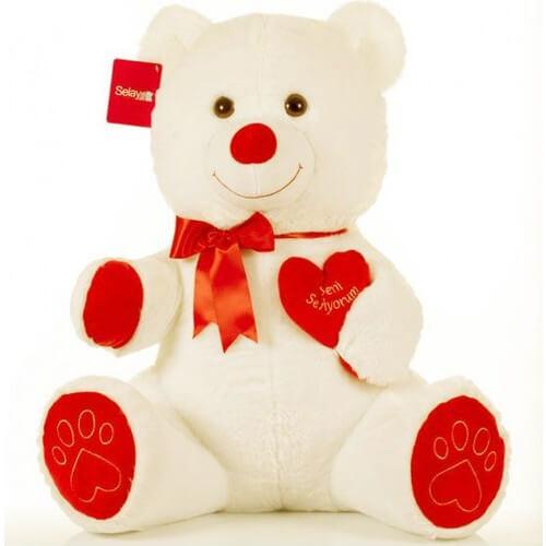 peluche ours avec cœur