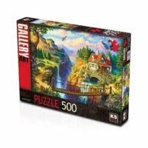 ks- Puzzel 500 Maison sur la falaise jouet enfant p'tit ange tunisie