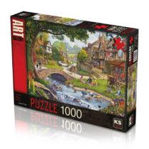 ks puzzle summer-village-stream jouet enfant p'tit ange tunisie