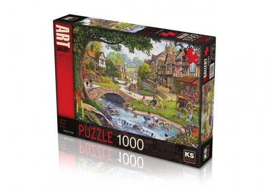 KS- puzzle Summer Village Stream