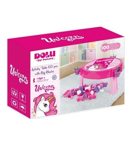 Table d'activités Dolu Unicorn 100 pièces