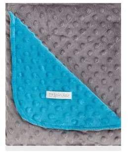 Couverture double face 110 × 140 Pois Turquoise