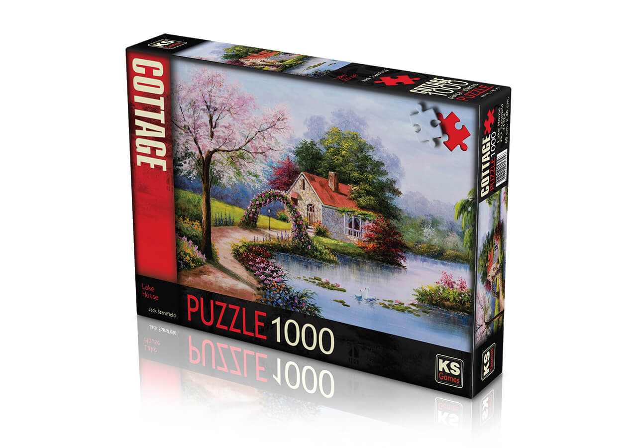 KS Puzzle 1000 Parça Lake House